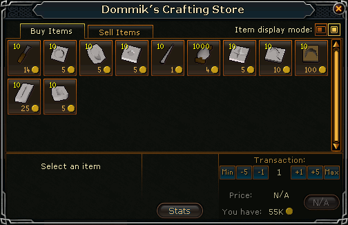 Crafting Store