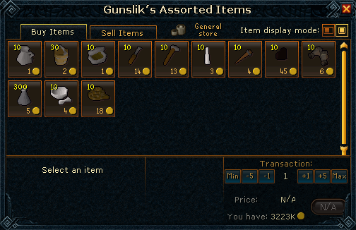 Gunslik's Assorted Items