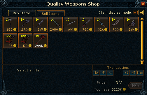 Quality Weapons Shop