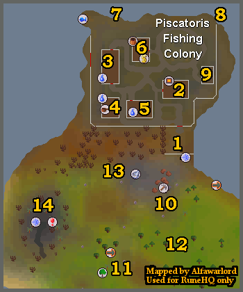 Piscatoris Fishing Colony Runescape Guide Runehq