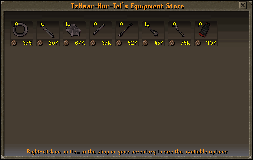 TzHaar-Hur-Tel's Equipment Store