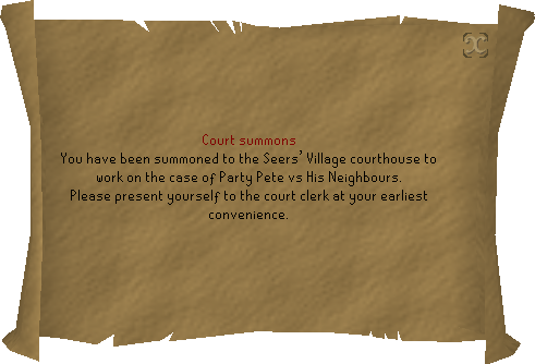 Party Pete Summons