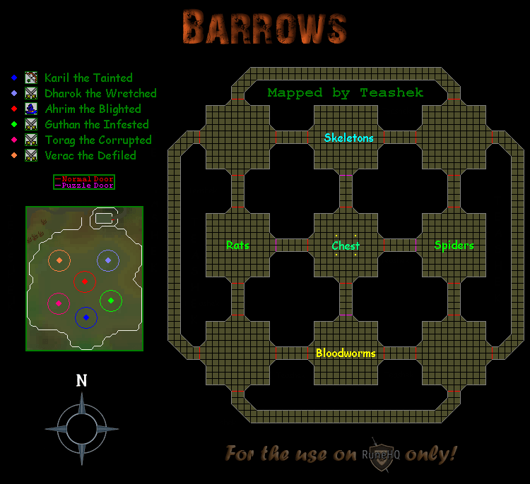 Barrows Map Runescape Guide Runehq
