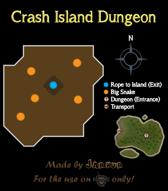 The Crash Island Dungeon Map