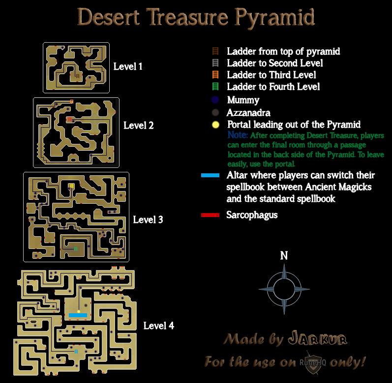 Desert Treasure Pyramid Map