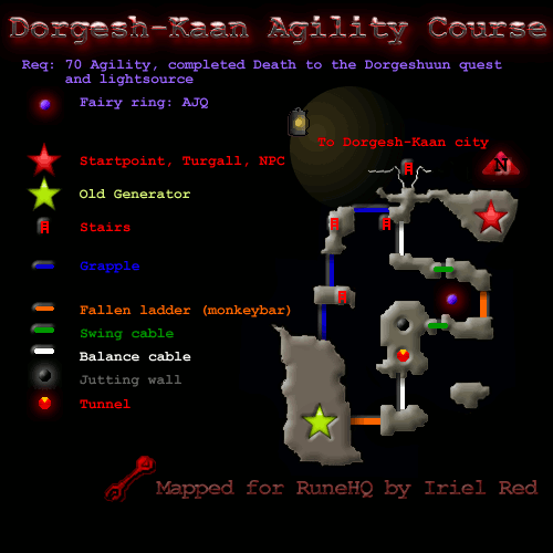 Dorgesh-Kaan Agility Course Map