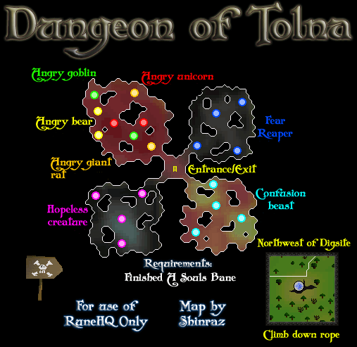 Dungeon Of Tolna Map