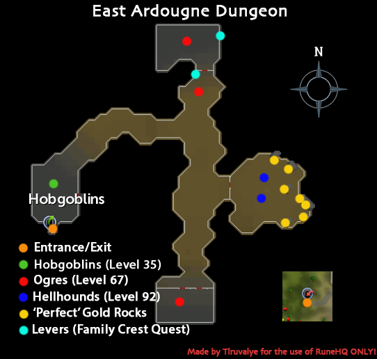East Ardougne Dungeon Map