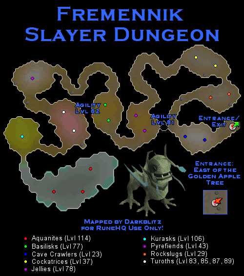Fremennik Slayer Dungeon Map