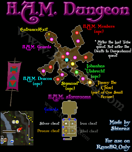 H.A.M. Dungeon Map