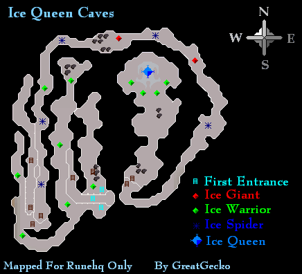Ice Queen Caves Map