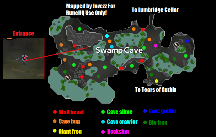 Lumbridge Swamp Dungeon Map