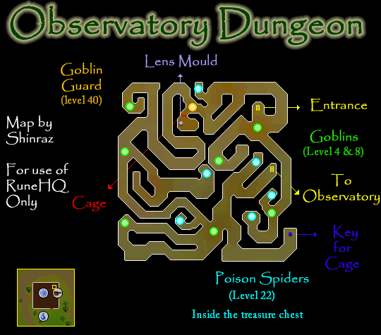 Observatory Dungeon Map - RuneScape Guide - RuneHQ