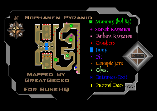 Sophanem Pyramid Map
