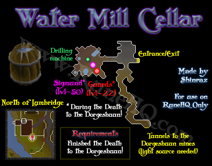 Water Mill Cellar Map