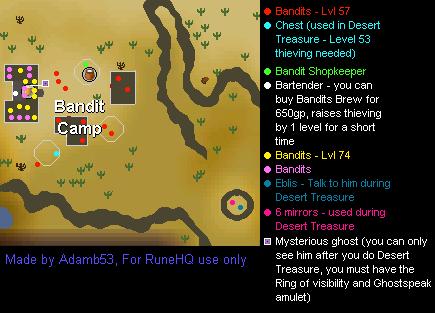 Desert Bandit Camp Map - RuneScape Guide - RuneHQ
