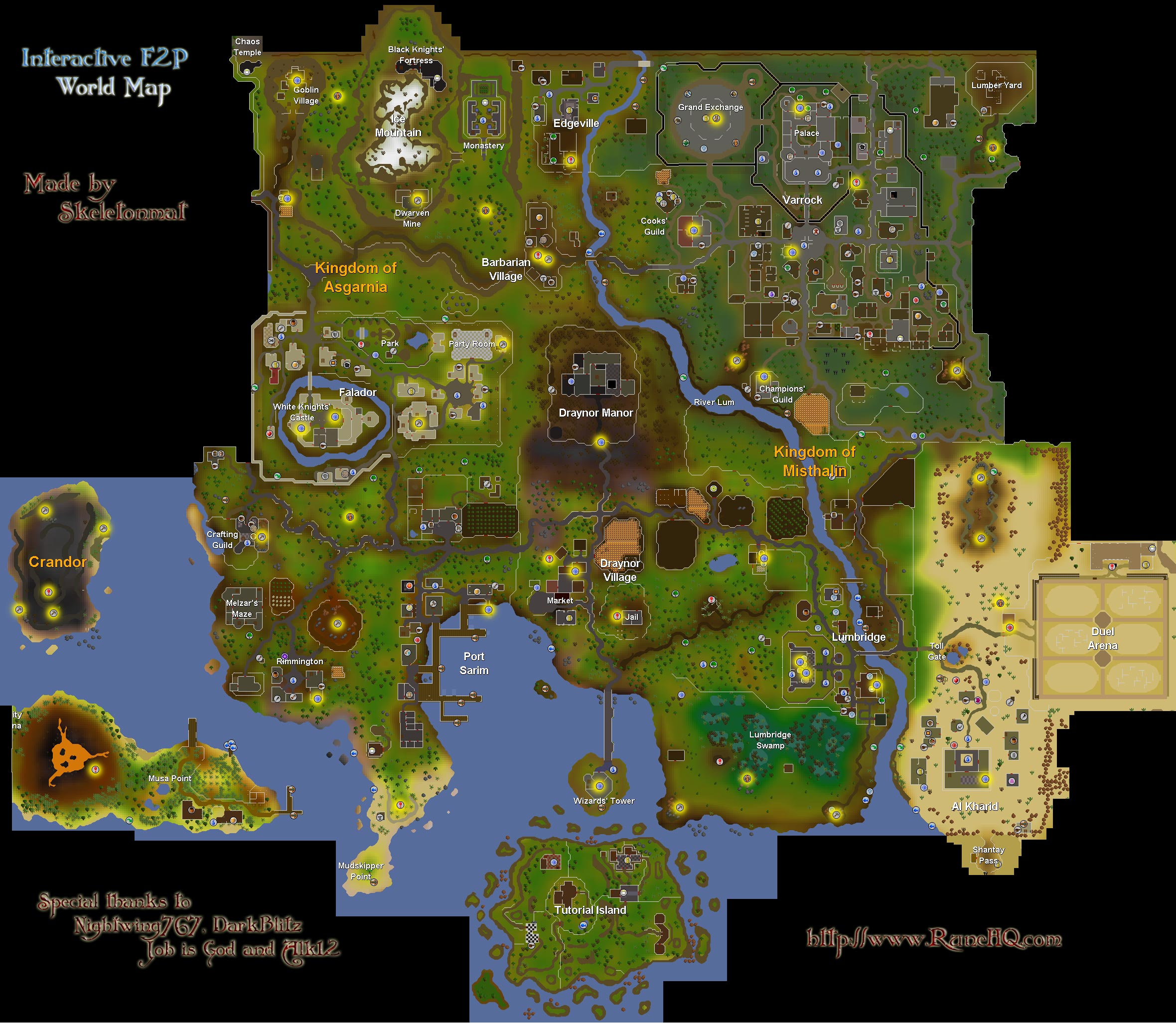 Free World Map RuneScape Guide RuneHQ