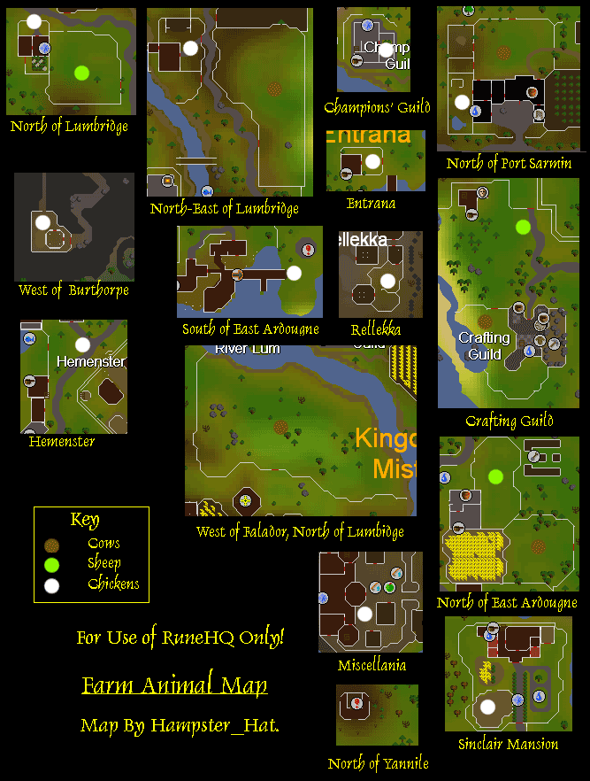 Farming Animal Map