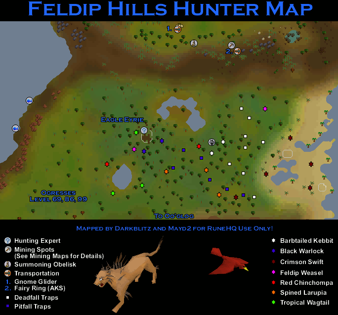 Feldip Hills Hunter Map