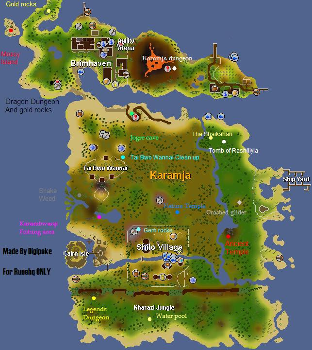 Karamja Island Map RuneScape Guide RuneHQ