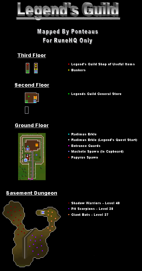 Legend's Guild Map