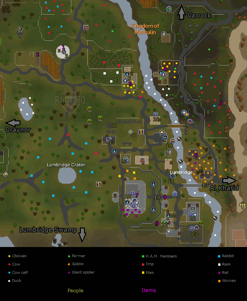 Lumbridge City map
