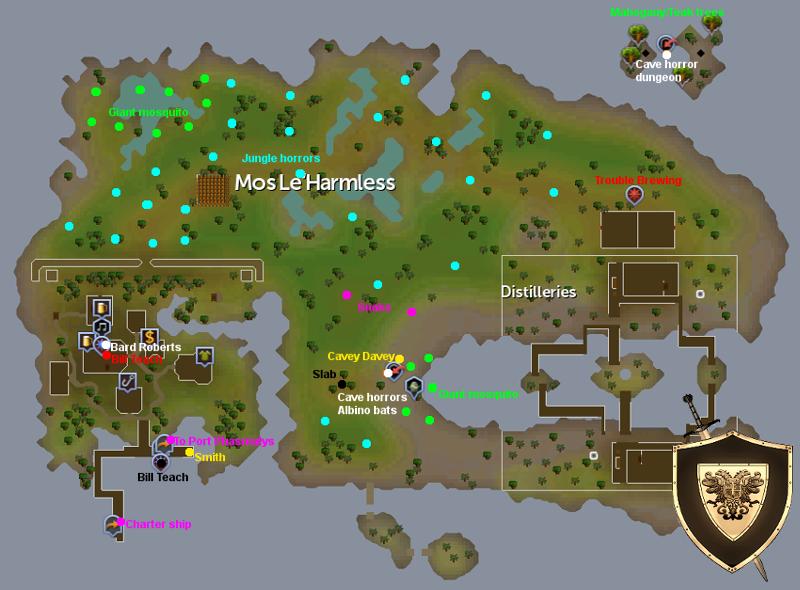 Mos Le\'Harmless Map - RuneScape Guide - RuneHQ