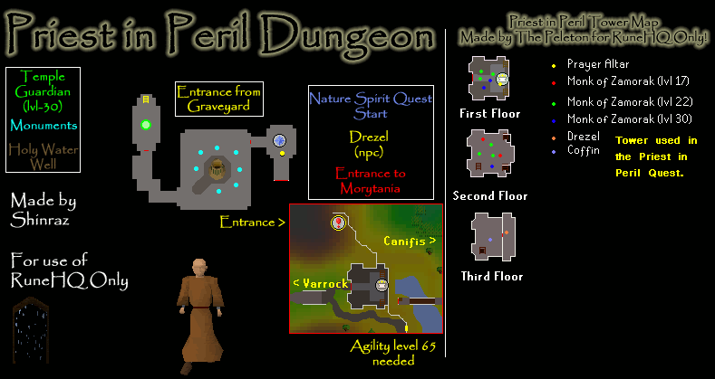 Priest In Peril Tower And Dungeon Map