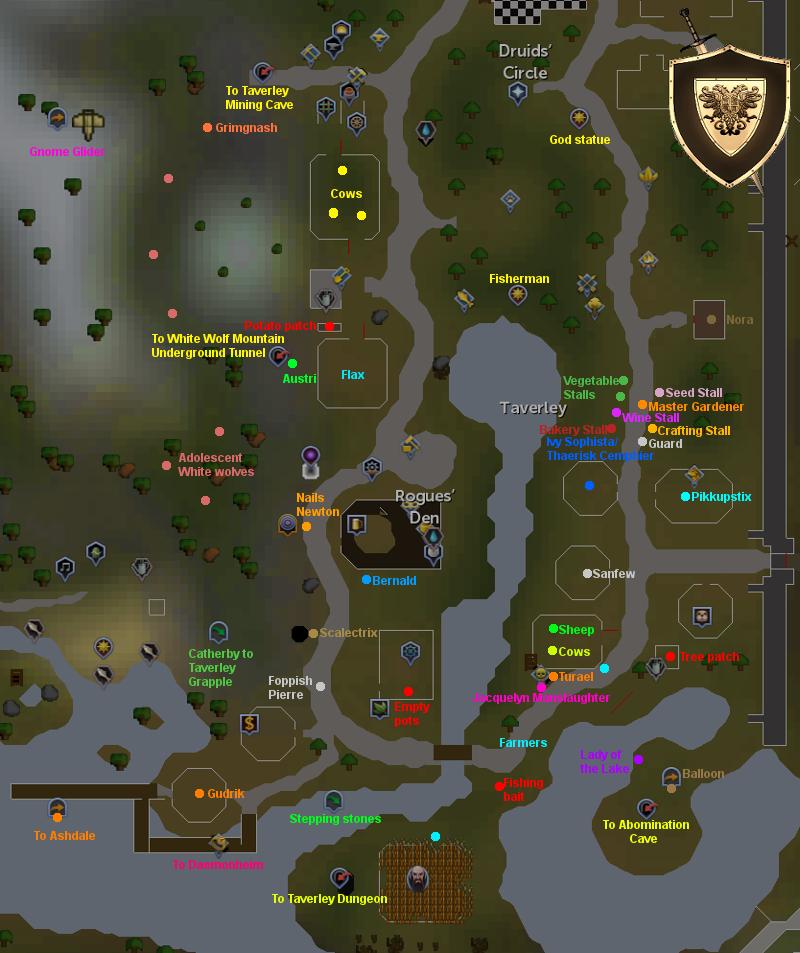 Taverley Map - RuneScape Guide - RuneHQ