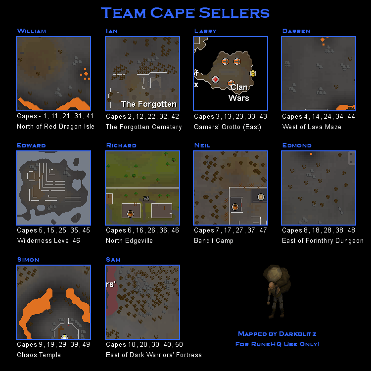 Wilderness cape seller locations