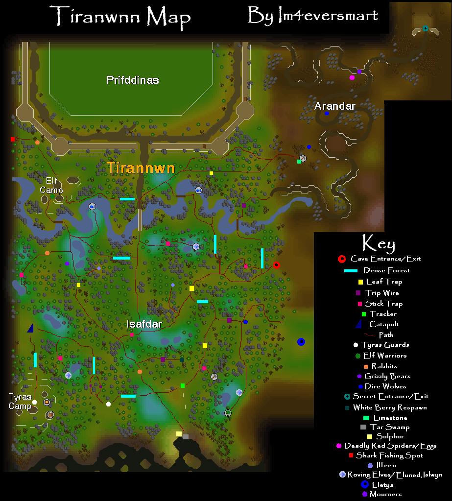 Tirannwn Map Runescape Guide Runehq