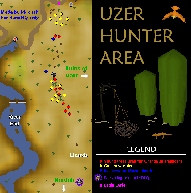 Uzer Hunter Area Map