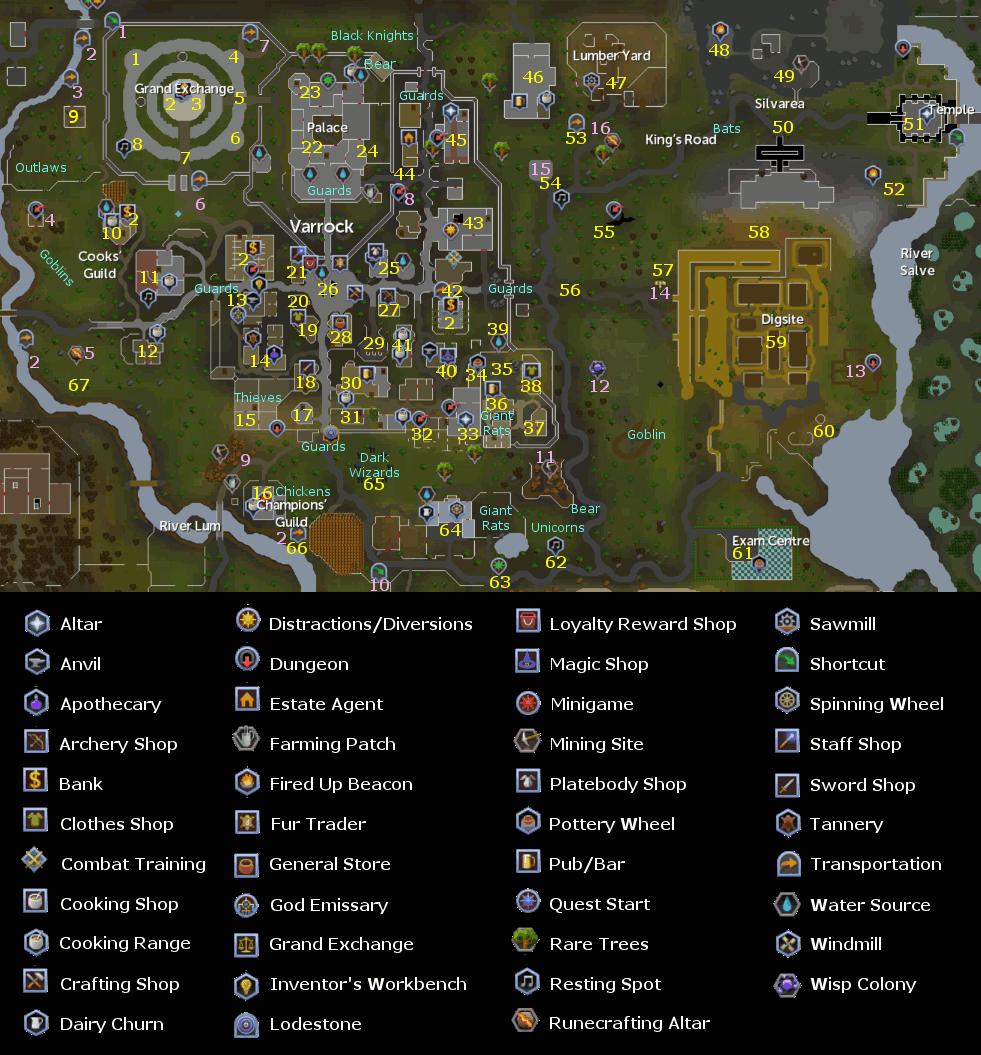 Varrock Map - RuneScape Guide - RuneHQ