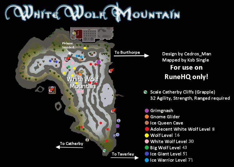 White Wolf Mountain Map   RuneScape Guide   RuneHQ