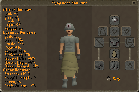 how to open armor sets runescape