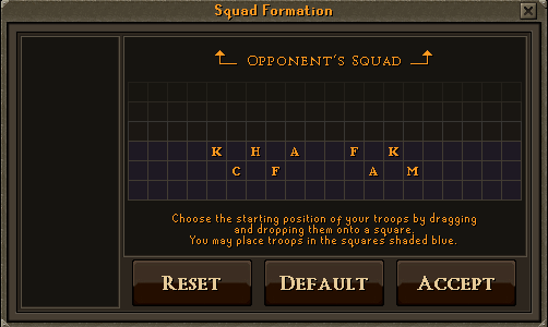 Choosing your squad formation