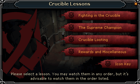 Crucible Lessons