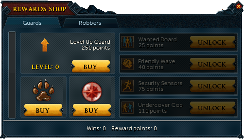 Guard Rewards Menu