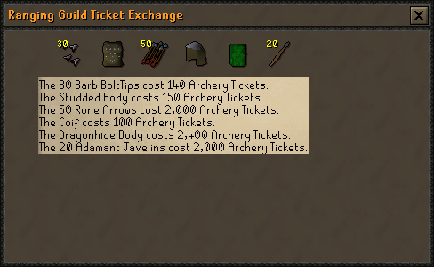 Ticket exchange screen