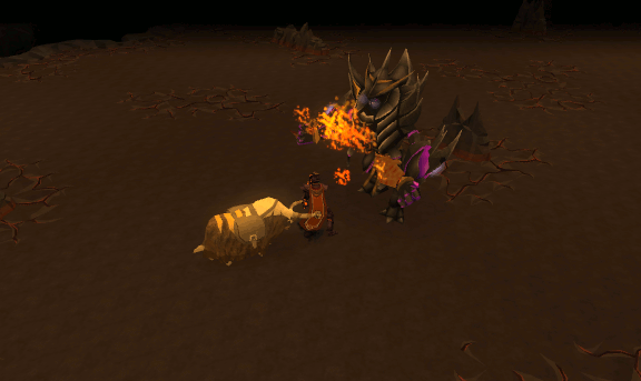 Fire cape sacrifice