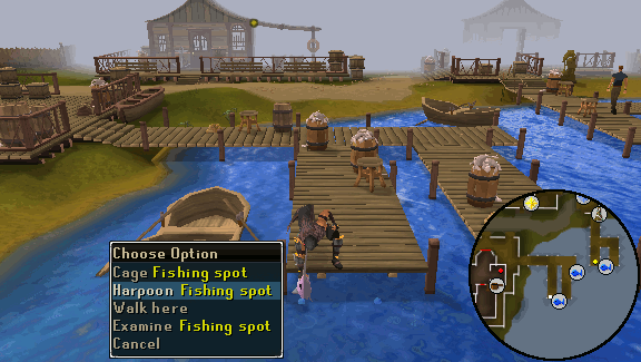 Bare-handed fishing