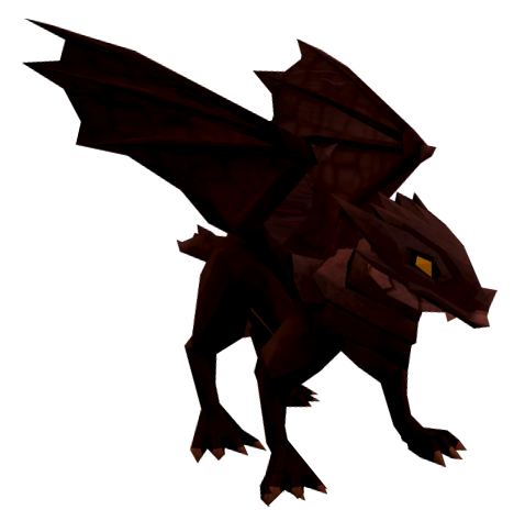 Baby black dragon