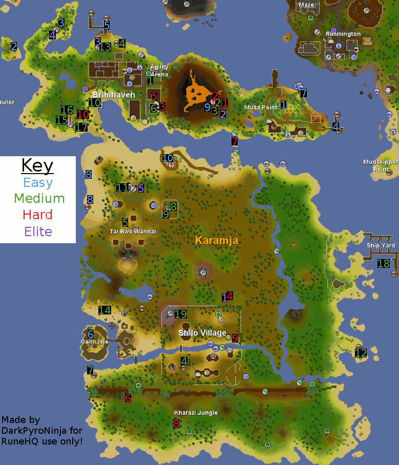 Osrs The Achievement Diary Karamja Runescape Guide Runehq Kill moss giants to get the mossy key and to the varrock sewers if you want to jump to the boss fight jump to 4:43 osrs killing moss giants and hill giants in f2p | low/mid level combat training. osrs the achievement diary karamja