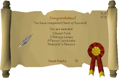Client of Kourend Quest Completed