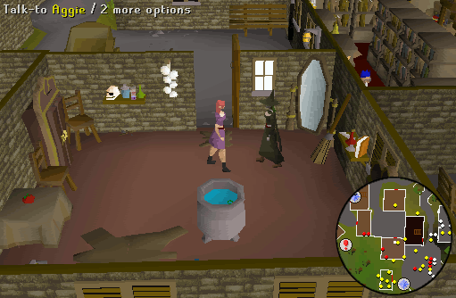 Use the orange dye on the goblin mail. Use the blue dye on a second ...