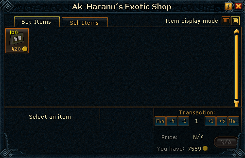 Ak-Haranu's Exotic Shop
