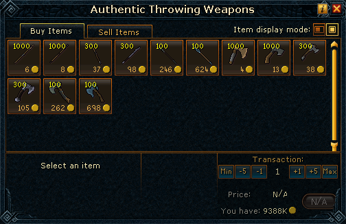 Authentic Throwing Weapons