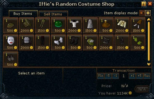Iffie's Random Costume Shop
