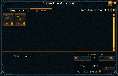 Oziach's Armour Shop