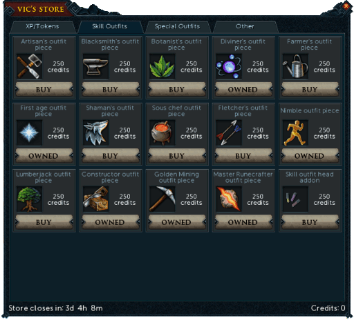 Skill Outfits